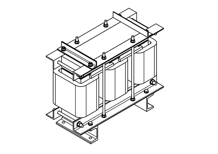 Купить Дроссель Моторный ДМ-0.48/34 Для Преобразователя Частоты Электродвигателя