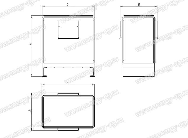 Габаритно-установочные размеры трансформатора ТП3-10 кВА IP20