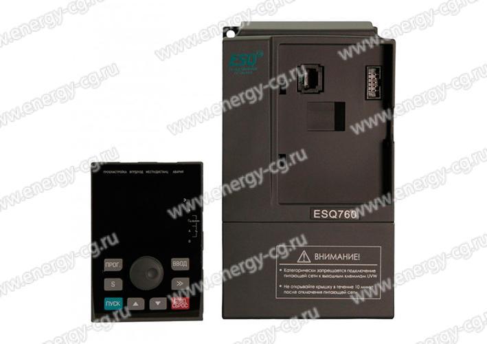 Купить преобразователь частоты ESQ-760-2S-0007 0.75 кВт 220 В