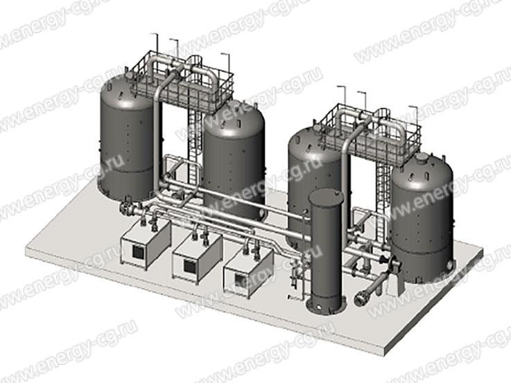 Габаритно-установочные размеры по фундаменту УРП-2500