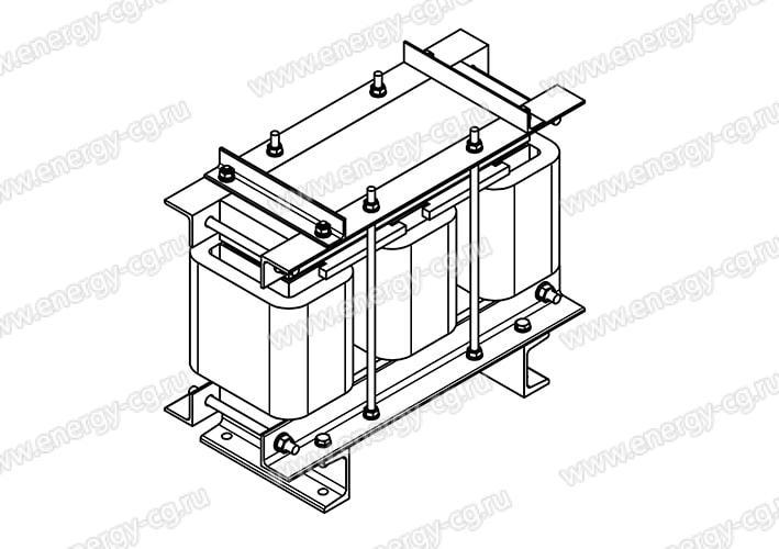 Купить Дроссель Моторный ДМ-0.16/100 Для Преобразователя Частоты Электродвигателя