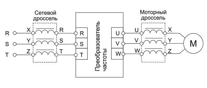 Схема подключения дросселя сетевого